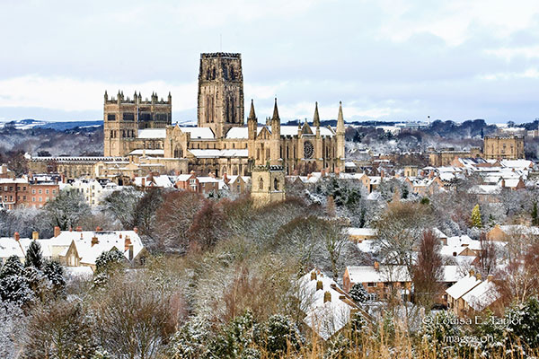 Dh39 Snow Durham Cathedral Images On