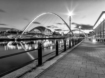 NE23 Newcastle Gateshead Quayside Black and White